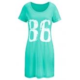 Shirtkleid, kurzarm/Sommerkleid in blau von bonprix