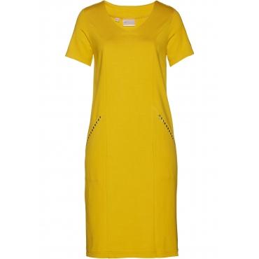 Shirtkleid kurzer Arm  in gelb (V-Ausschnitt) für Damen von bonprix