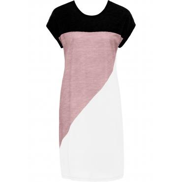 Shirtkleid kurzer Arm  in grau (Rundhals) von bonprix