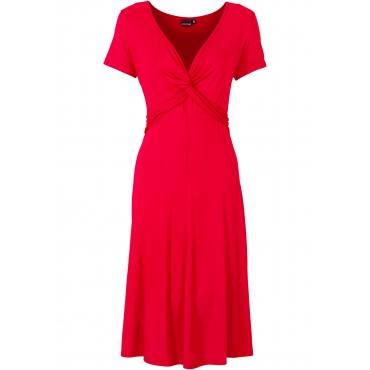 Shirtkleid kurzer Arm  in rot (V-Ausschnitt) für Damen von bonprix
