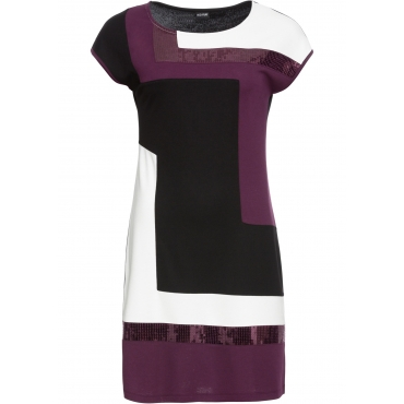 Shirtkleid kurzer Arm  in schwarz (Rundhals) von bonprix