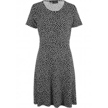 Jerseykleid kurzer Arm  in schwarz für Damen von bonprix