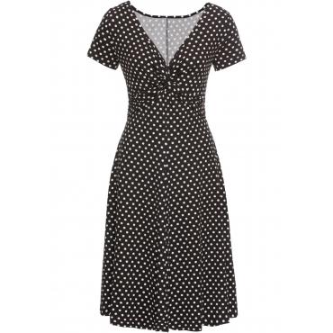 Shirtkleid kurzer Arm  in schwarz (V-Ausschnitt) für Damen von bonprix