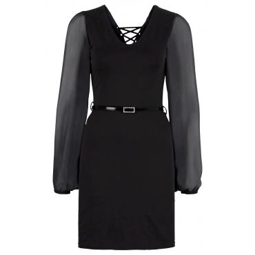 Shirtkleid langarm  in schwarz von bonprix