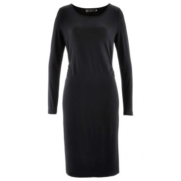 Shirtkleid mit Volants 3/4 Arm  in schwarz für Damen von bonprix