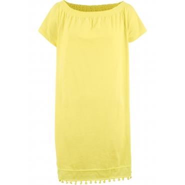 Jersey-Carmen-Kleid in gelb für Damen von bonprix