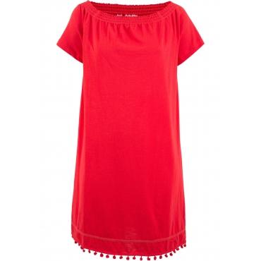 Jersey-Carmen-Kleid in rot für Damen von bonprix
