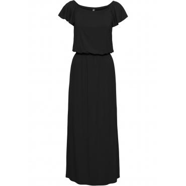 Shirtkleid mit Carmenausschnitt in schwarz von bonprix