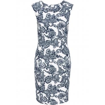 Shirtkleid mit Formeffekt kurzer Arm  in weiß von bonprix