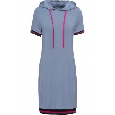 Shirtkleid mit Kapuze kurzer Arm  in lila von bonprix