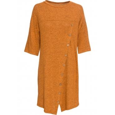 Shirtkleid mit Knopfleiste 3/4 Arm  in gelb für Damen von bonprix