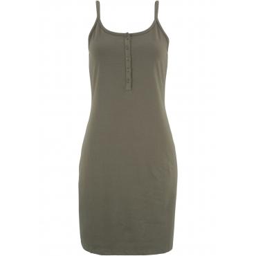 Shirtkleid mit Knopfleiste ohne Ärmel  in grün für Damen von bonprix