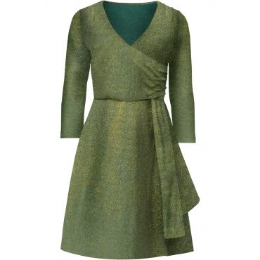 Shirtkleid mit Lurex in grün von bonprix