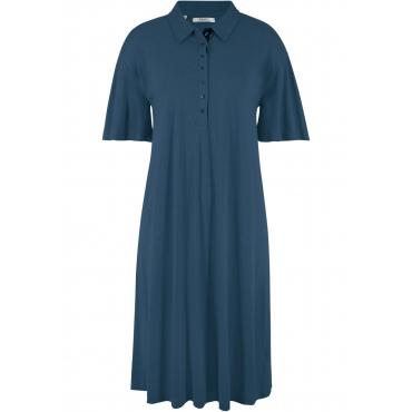 Shirtkleid mit Polokragen halber Arm  in blau  von bonprix