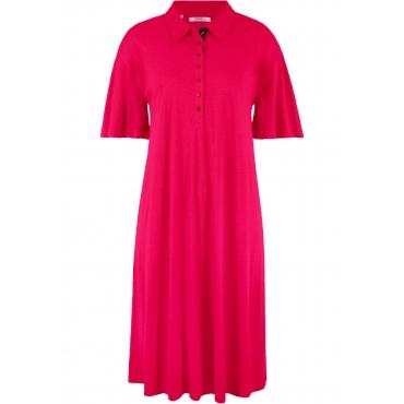 Shirtkleid mit Polokragen halber Arm  in rot  von bonprix