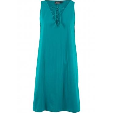 Jerseykleid mit Schnürung ohne Ärmel  in blau für Damen von bonprix