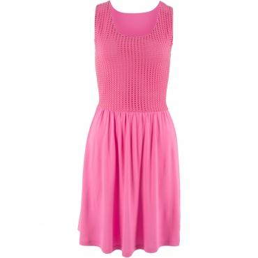 Shirtkleid mit Spitze ohne Ärmel  in pink von bonprix