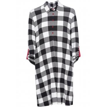 Shirtkleid mit Taschen langarm  in schwarz  von bonprix