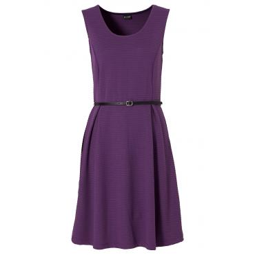 Shirtkleid ohne Ärmel  figurbetont  in lila (Rundhals) von bonprix