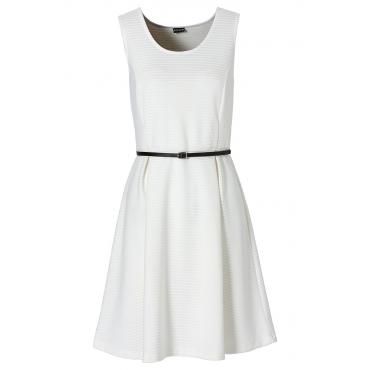 Shirtkleid ohne Ärmel  figurbetont  in weiß (Rundhals) von bonprix