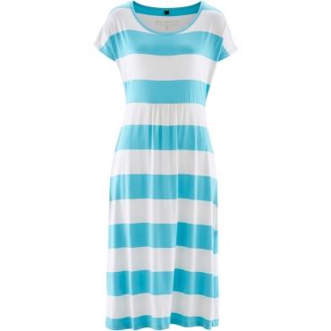 Shirtkleid ohne Ärmel  in blau (Rundhals) von bonprix