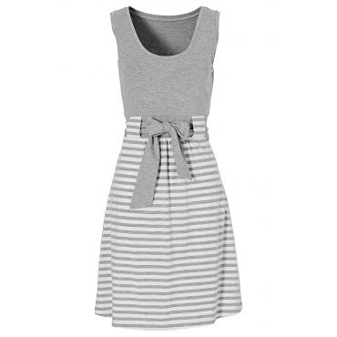 Shirtkleid ohne Ärmel  in grau (Rundhals) von bonprix