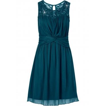 Shirtkleid ohne Ärmel  in grün (Rundhals) für Damen von bonprix
