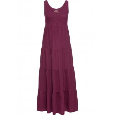 Baumwoll Jerseykleid, lang ohne Ärmel  in lila für Damen von bonprix