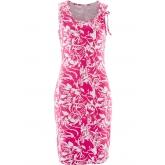 Shirtkleid ohne Ärmel  in pink (Rundhals) von bonprix