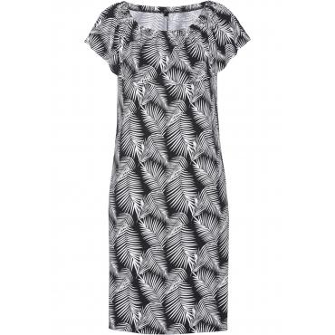 Shirtkleid ohne Ärmel  in schwarz (Carmen-Ausschnitt) von bonprix