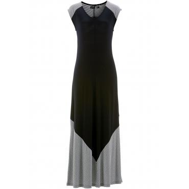 Shirtkleid ohne Ärmel  in schwarz (Rundhals) von bonprix
