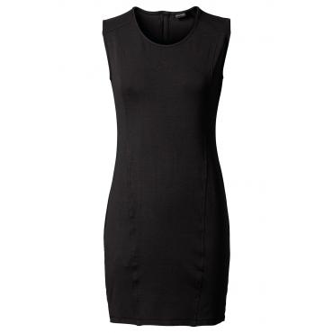 Shirtkleid ohne Ärmel  in schwarz von bonprix