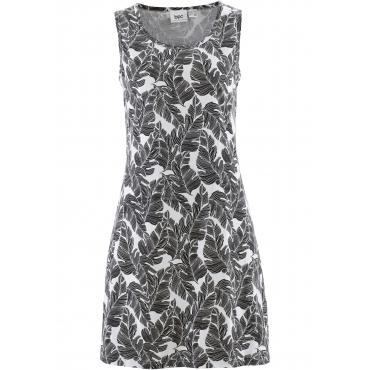 Jerseykleid ohne Ärmel  in weiß für Damen von bonprix