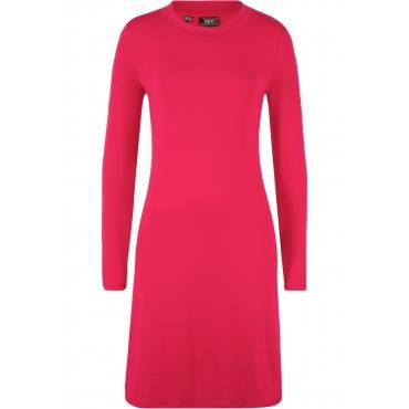 Shirtkleid, weiche Ware langarm  in rot für Damen von bonprix