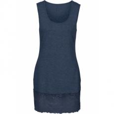 Shirttop mit Spitze ohne Ärmel  in blau für Damen von bonprix