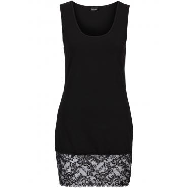 Shirttop mit Spitze ohne Ärmel  in schwarz für Damen von bonprix
