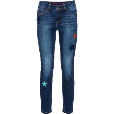 Knöchelfreie Skinny Jeans in blau für Damen von bonprix
