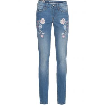 Skinny Jeans mit Stickerei in blau für Damen von bonprix