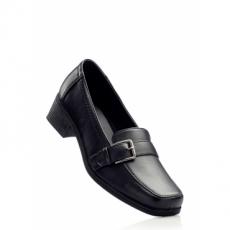 Slipper mit 4 cm Blockabsatz in schwarz von bonprix