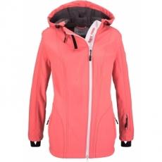Softshell-Jacke mit Kapuze und Kuschelfleece langarm  in pink für Damen von bonprix