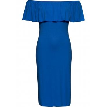 Sommer-Carmen-Kleid aus Jersey in blau für Damen von bonprix