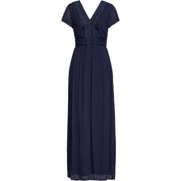 Sommer-Maxikleid mit Spitze kurzer Arm  in blau für Damen von bonprix