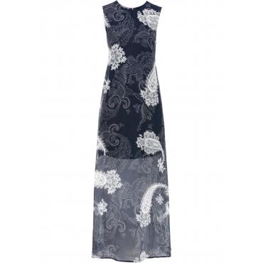 Sommerkleid aus Chiffon ohne Ärmel  in blau von bonprix