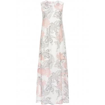 Sommerkleid aus Chiffon ohne Ärmel  in weiß von bonprix