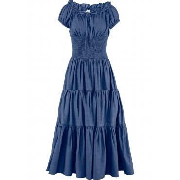 Sommerkleid kurzer Arm  in blau von bonprix