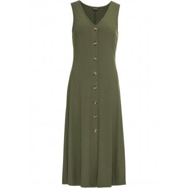 Sommerkleid mit Knöpfen ohne Ärmel  in grün für Damen von bonprix