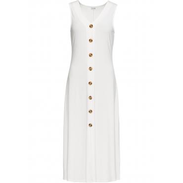 Sommerkleid mit Knöpfen ohne Ärmel  in weiß für Damen von bonprix