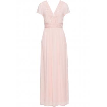 Sommer-Maxikleid mit Spitze kurzer Arm  in rosa für Damen von bonprix