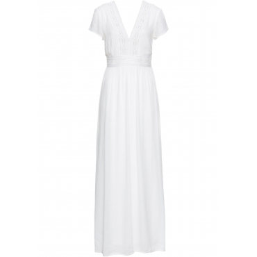Sommer-Maxikleid mit Spitze kurzer Arm  in weiß für Damen von bonprix