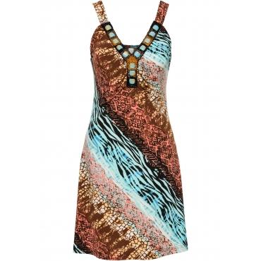 Sommerkleid ohne Ärmel  in blau von bonprix